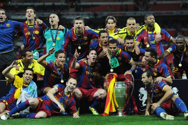FC Barcelona won the Champions League after beating Manchester United 3-1