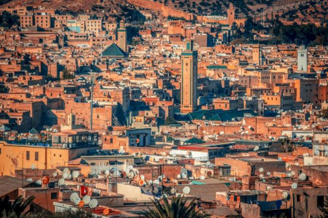 Panoramic View of the medina of Fez, Morocco