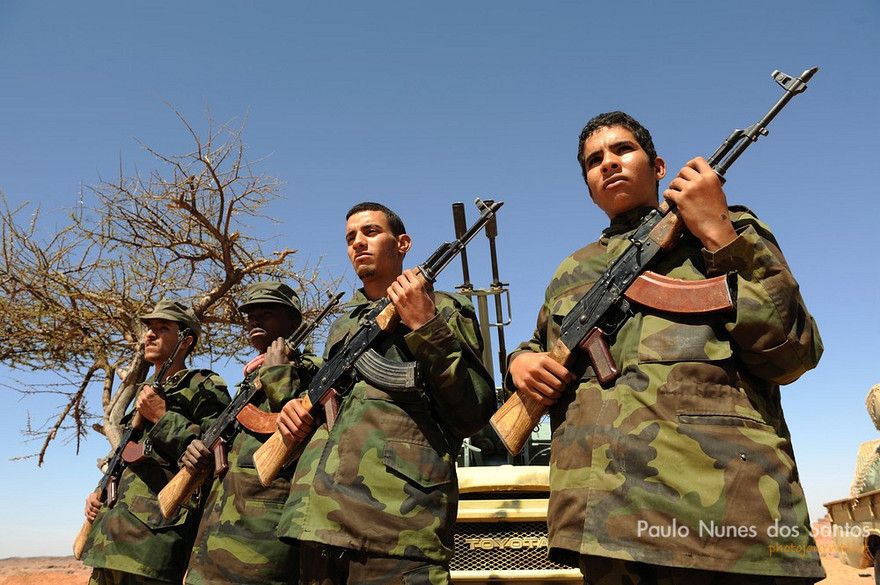 Polisario Front Fighters stationed in Tifariti