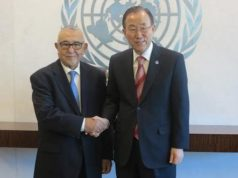 Ban Ki-moon and Abdelwahed Radi