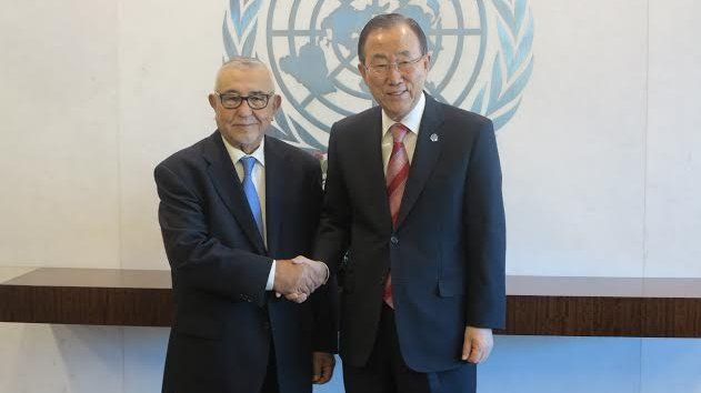 Ban Ki-moon and Abdelwahed Radi