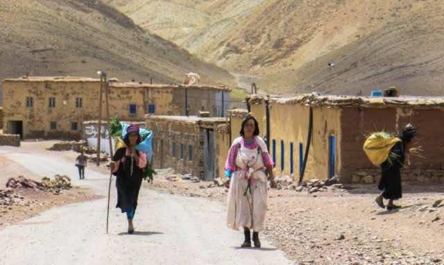 Women in Imilchil, Morocco