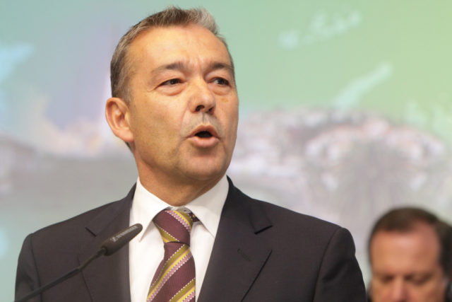The president of Canary Islands, Paulino Rivero Baute