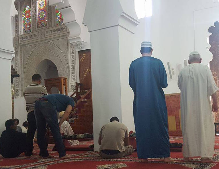 At the Mosque, peaple praying during Ramadan