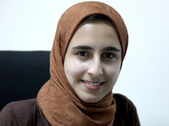 Hassna Khoulali, a 19-year-old university student and winner of several prizes in Morocco