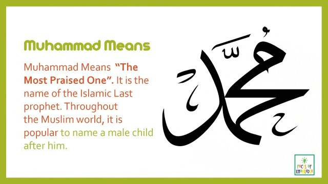 Mohammed: The Most Popular Name in the world