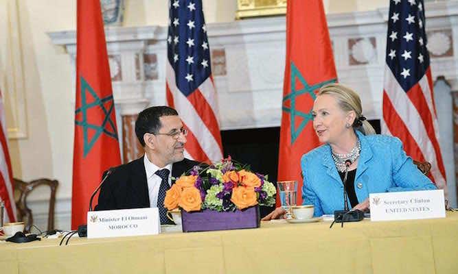 Secretary of State Hillary Clinton and Moroccan Foreign Minister Saad Eddine El Otmani