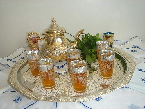 Moroccan Tea, a pleasing drink amid exotic ritualized protocol