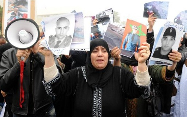 Families of the victims of Gdim Izik protesting on Janury 31 in Rabat.