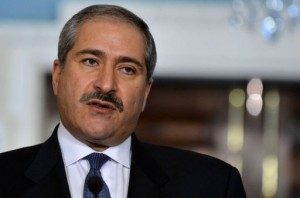 Jordanian Foreign Minister Nasser Judeh answers a question in Washington, DC, on February 13, 2013 (AFP, Jewel Samad)
