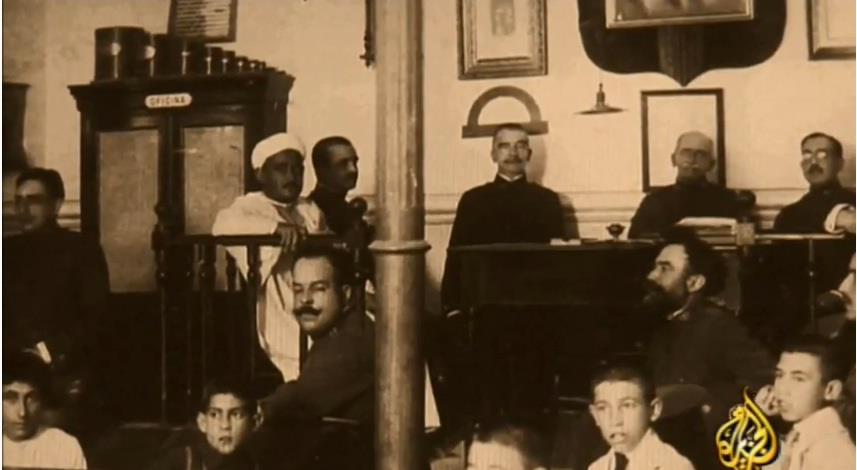 Mohammed Ben Abdelkrim El Khattabi at the tribunal in Northern Morocco, after he was captured by Spaniards at the end of Rif war in 1926