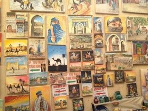 Painting for sale in the souks of the Medina of Fez. Photo by Benjamin Villanti-MWN