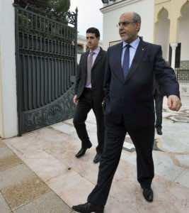 Prime Minister Hamadi Jebali greets photographers, on February 11, 2013 in Tunis (AFP, Fethi Belaid)