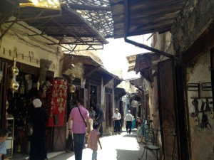 Souk in Fez Medina. Photo by Benjamin Villanti-MWN