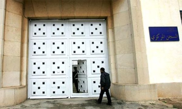 The entrance to the Kenitra prison, north of Rabat, Morocco. Photo by Abdelhak Senna-AFP