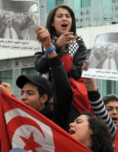 Tunisians demonstrate on February 11, 2013 in Tunis (AFP, Fethi Belaid)