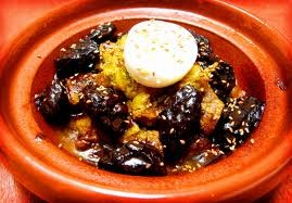 prunes tagine in Moroccan cuisine