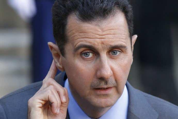 Syria's president bashar al assai answers journalists