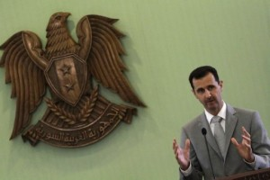 Image taken on October 11, 2010 shows Syrian President Bashar al-Assad at a press conference in Damascus (AFP, Louai Beshara)