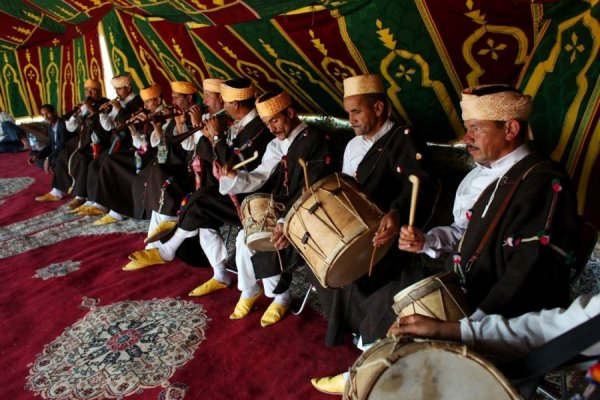 Joujouka Masters Musicians, The Healing Power of a 4000 year old Music. (Photo Courtesy of querrillazoo.com)