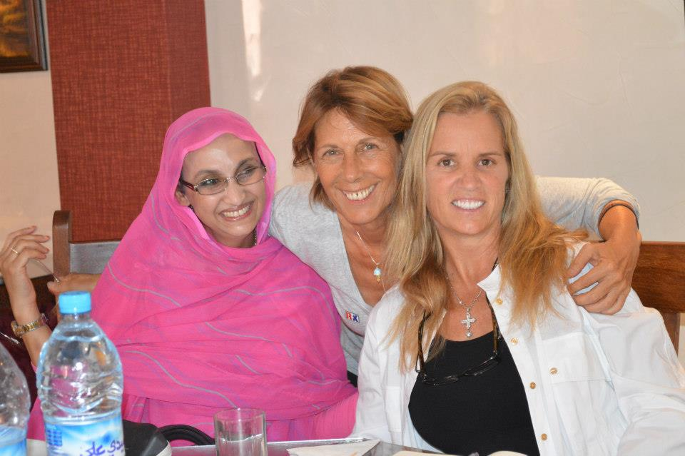 Kerry Kennedy with Aminatou Haidar