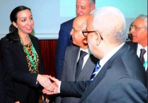 Leila Hanafi with Head of Moroccan Government