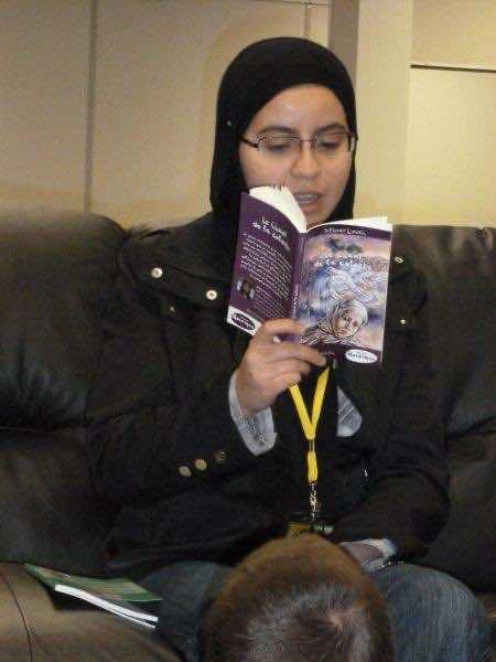 Moroccan 14-year-old writer Intissar Louah