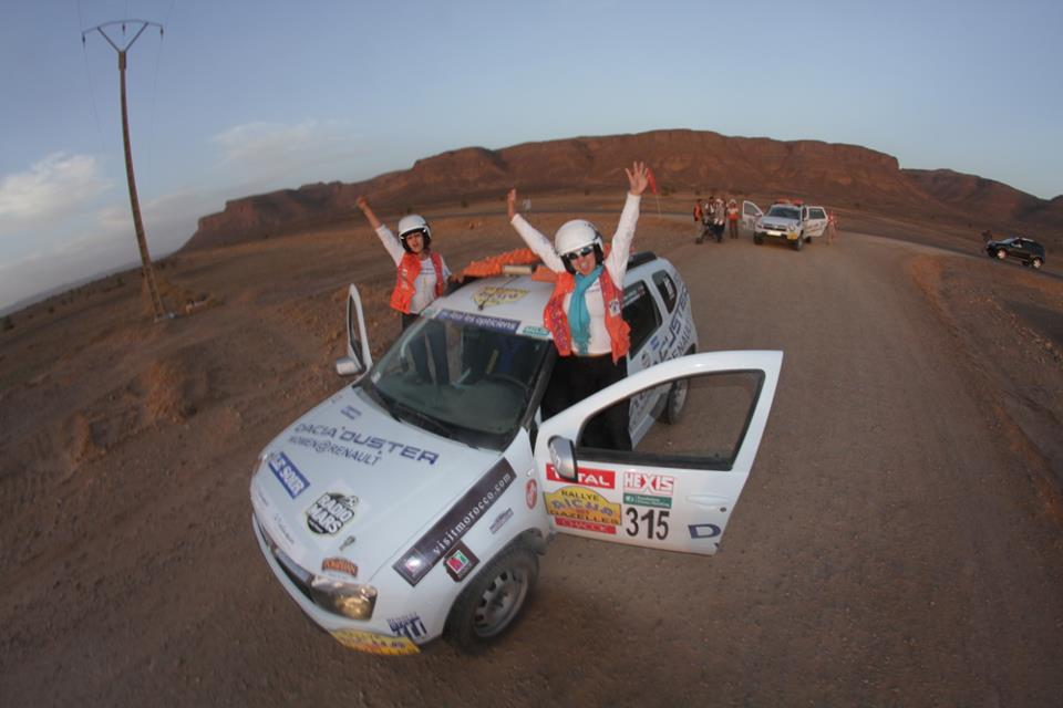 Rally Aicha des Gazelles, Day Eight in Zegoura. Team 315 (picture by Helene Celemenson for Morocco World News)