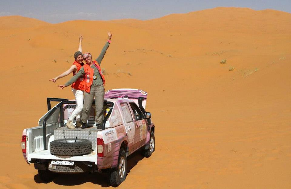 Rally Aicha des Gazelles, Day two Saida and Safae) driving the Dacia Duster (picture by Helene Celemenson for Morocco World News)