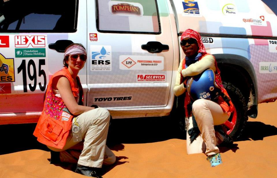 Rally Aicha des Gazelles, Day two team 195 (picture by Helene Celemenson for Morocco World News)