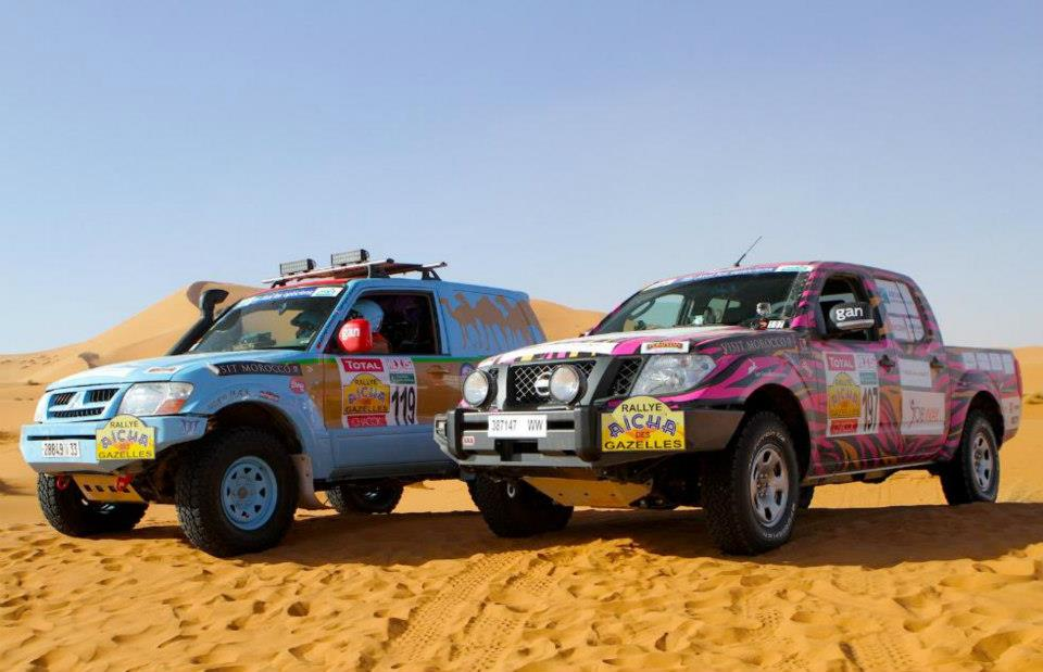 Rally Aicha des Gazelles, Day two teams 119 and 197 (picture by Helene Celemenson for Morocco World News)