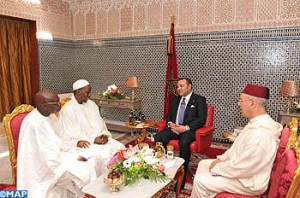 Senegalese religious dignitaries leaders with King Mohammed VI's care for their communities