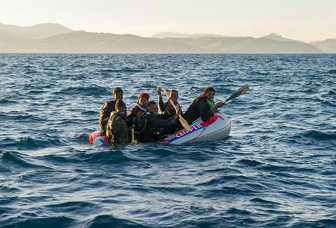 Spanish Navy Rescues 9 Moroccan Irregular Migrants off the Mediterranean