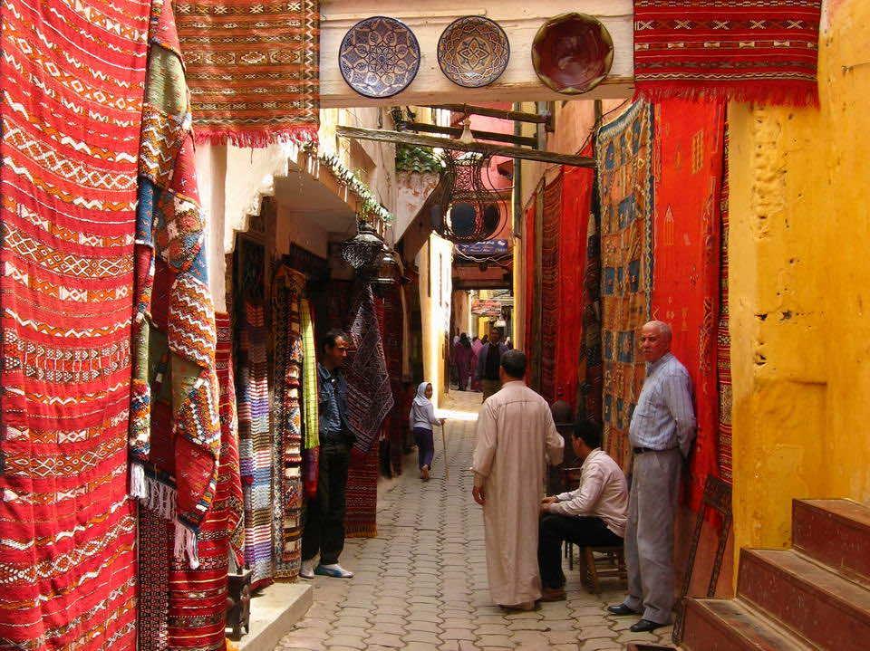 a bazar in Meknes medina