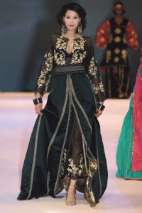 Moroccan Model wearing Kaftan