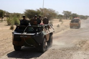 File picture shows French troops on patrol between Timbuktu and Douentza. AFP