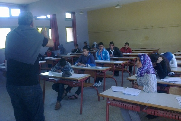 Moroccan Children at school in Rabat