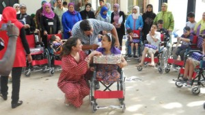 Doha Benchkhchou, the founder of Project '1001 Wheelchairs for 1001 Smiles'