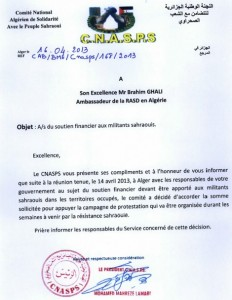 Leaked document shows Algeria is behind protests in the Sahara