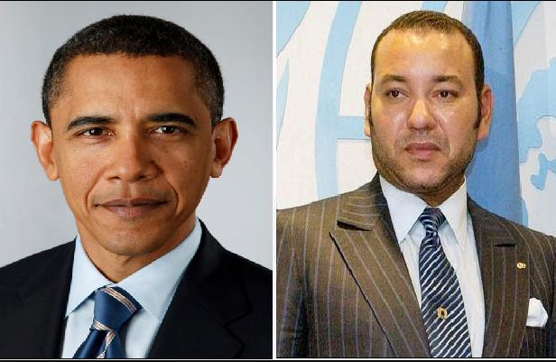 Moroccan King, Mohammed VI AND US President Barack Obama