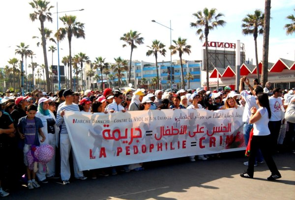 Moroccan March in White against Pedophilia. Photo by Mouhssine Baron Arfa