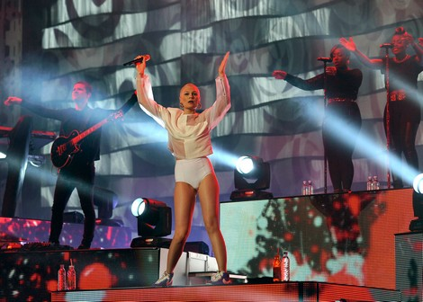 Jessie J while performing at Mawazine Festival in Morocco (Photo by Hespress)
