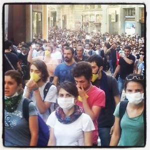 In the Middle of Occupy Gezi protest in Istanbul, number 2 (Photo by Karima Rhanem for Morocco World News