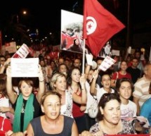 Tunisians protest against revolution draft law