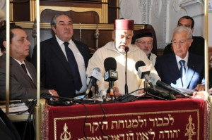 Abdelilah Benkirane during the inauguration of synagogue Slate Al fassiyine in Fez