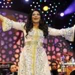 Emirates singer Ahlam wearing the Moroccan Kaftan at Mawazine Festival