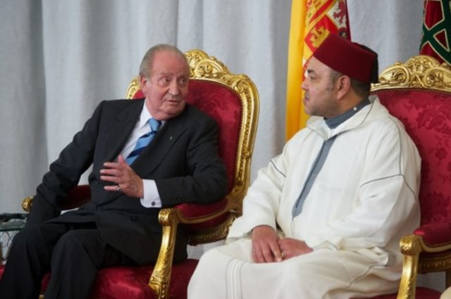 KIng Mohammed VI with King Juan Carlos of Spain