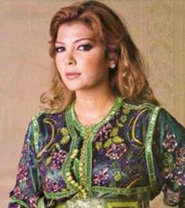 Syria's famous Asala Nassri wearing the Moroccan Kaftan