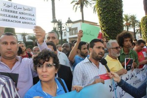 Moroccan and foreign journalists call for the release of Anouzla