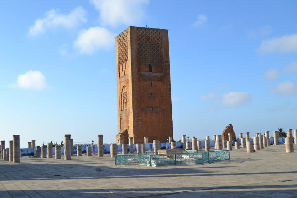 Mosque Hassan in Rabat.